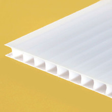 8mm Opal TwinWall Polycarbonate Sheet Create bright ambient light and retain heat.