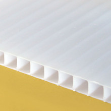 10mm Opal TwinWall Polycarbonate Sheet White twinwall brightens any room with ambient light.