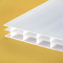 16mm Opal 3-Wall Polycarbonate Sheet Insulate and diffuse the light.