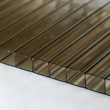 10mm Bronze TwinWall Polycarbonate Sheet - Brown DoubleWall has high R rating, is lightweight but stronger than glass