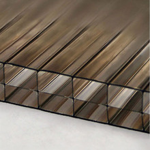 16mm Bronze 3-Wall Polycarbonate Sheet -  Great for home construction projects.