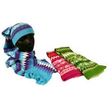 Scarf Hat Hand Knit Alpaca Tube Scarf Extra Long