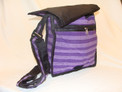 """Cotton Messenger Bag Tote 10"""" x 10"""" Zippered Pouch"""