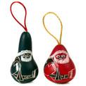 Gourd Santa Ornament