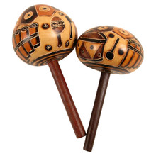 Maraca Single with Stick Handle Musical Instruments (350)