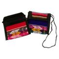 """String Coin Purse 4"""" x 4"""" Manta Fabric Peru"""