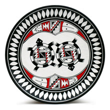 Black & White Mimbres Plate - Turtle