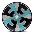 Spiral Mimbres Plate - Sky Blue
