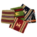 "Coasters 100% Wool 5"" x 5"" Assortment Hand Woven Peru"