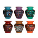 "Pisac Mini Vase 5"" Signed Originals Assorted Colors Fine Detail"