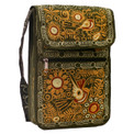 """Embroidered Purse Small with Zippered Pockets 7"""" x 9"""""""