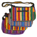 Canoe Shaped Hand Bag Tote Ikat Fabric Hand Loomed