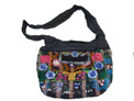 Floral Decorated Bag with  Lined Interior and Sturdy Strap