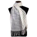 Fine Woven Sheer 100% Alpaca Tile Weave Shawl (20)