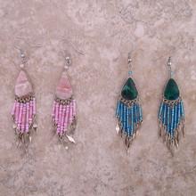 Stone Earrings w/ beads