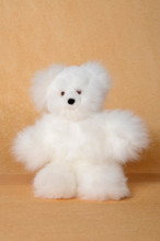 "Alpaca Fur Teddy Bear White 15"" Fair Trade Artisan Produced"