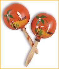 "Traditional colorful crisp sound pair maracas 8"""