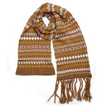 "100% Alpaca Knit Natural Color Scarf 8"" x 74"""