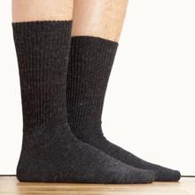 Alpaca Crew Socks Unisex Size Black