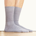 Alpaca Knit Crew Socks Silver Gray