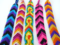 Wide Hand Woven Bracelets Package of 50 Lot Assorted 9""