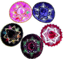 "Mini Charro Hat 4"" Assorted Colors Velvet"