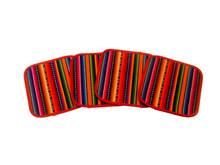 "Cotton Woven Coasters in Andean Manta 5'"" x 5"" Peru"