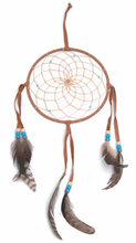 """Dream Catcher 6"""" Assorted Color and Feathers"""