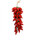 Red Jalapeno Ristra Strand Peppers Ceramic 18""