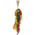 "Multicolor Chili Peppers Cayenne 18"" Strand Ceramic"