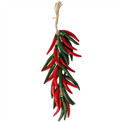 Red and Green Mix Cayenne Arbol Chili Pepper Ristra Strand 18""