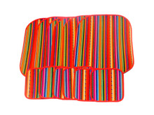 Woven mats and coasters set of 6 pairs in 100% cotton