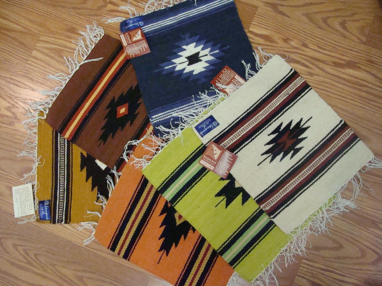 Mats 100 Wool 10 Quot X 10 Quot Hand Woven Assorted Colors Peru