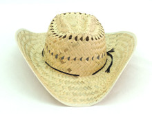 Raffia Palm Straw Hat with Cord and Medium Brim