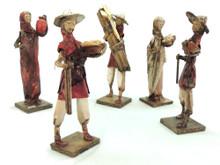 """10"""" Tall Paper Mache Peasant Dolls Assortment"""