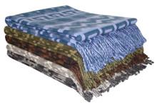 Nazca 100% Alpaca Blanket Super Fine Weave Soft and Warm Fringed