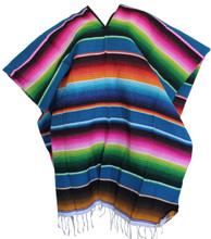 Assorted Color Poncho Made from Recycled Fibers Bright Colors