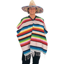 Child Size Poncho in Assorted Striped Colors