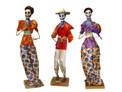 """Assortment of Paper Mache Figures 14"""" Tall"""