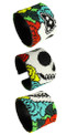 "Double Magnetic Clasp Glass Fine Bead Katrina Day of the Dead 2"" Bracelet Icon BR601-2"