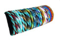 Liquid Bracelet Color Twirl Glass Beads Adjustable Assortment BR194-001