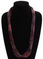 Purple Crystal Beads Stranded Necklace Zulu NE105-210