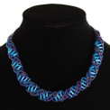 "Stranded DNA Beaded Necklace Blue Iris and Light Blue 18""  NE107-351"
