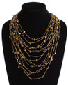 "Cascade Necklace Earth Strands 24"" NE104-103"