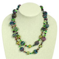 "NE506-105 Double Strand Necklace Crystal and Glass Necklace 22"" Guatemala"