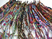 Wool Friendship Bracelets- Assorted 20 Pack Hand Woven
