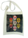 Canvas bag sugar skulls smiling and festive in honor of all deceased loved ones