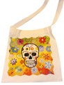 Canvas Sugar Skull Tote Style 9 Calavera Skull tote bag, Day of the Dead tote bag, Sugar Skull bag, Skull bag, la muerta bag, Library bag, Reusable shopping bag,