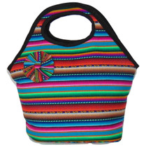 Manta Woven Lunch Tote Zippered Pouch Purse Bag