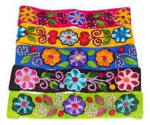 Embroidered Headband Assortment Wool Woven
